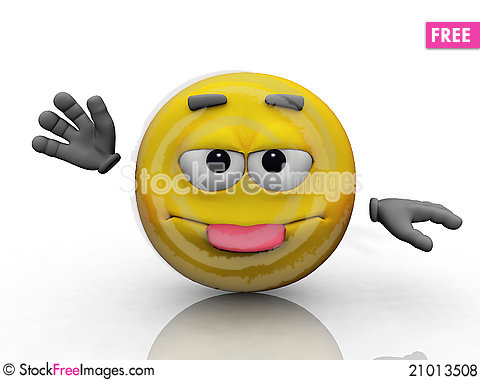 Free Smiley And The Tongue Royalty Free Stock Photos - 21013508