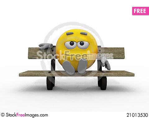 Free Smiley On The Bench Stock Photo - 21013530