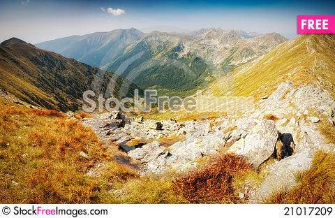 Free Mountain Panorama Royalty Free Stock Images - 21017209