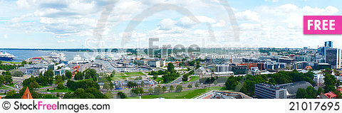 Free Panorama View Of Tallinn Royalty Free Stock Photo - 21017695