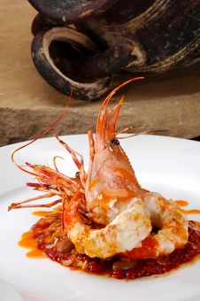 Free Plated Prawn Royalty Free Stock Photography - 21010037