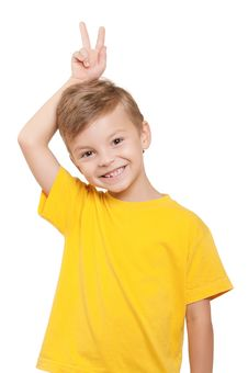 Free Portrait Of Boy Stock Photography - 21010472