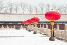 Free Red Lanterns In Front Of The Palace Stock Photography - 21010712
