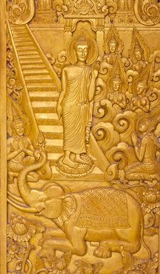 Buddha In The Wood Stock Photography