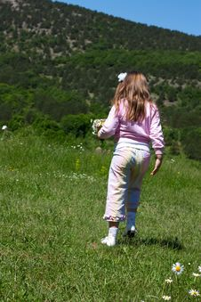 Free Little Girl On A  Meadow Royalty Free Stock Images - 21011039