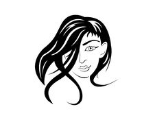 Free Female Face Portrait Isolated Royalty Free Stock Image - 21011126