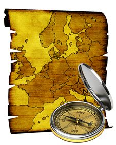 Free Map Of Europe In Old Style Stock Photo - 21011590