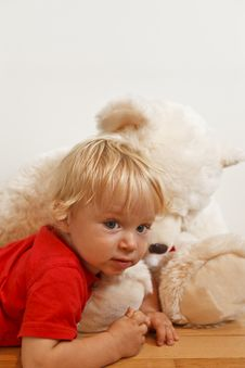 Free Baby With Teddy Bear Stock Photos - 21011793