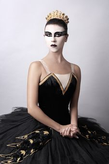 Free Black Swan - Portrait Of Ballerina Stock Image - 21012071