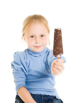 Free Girl Eating Ice Cream Royalty Free Stock Images - 21012149