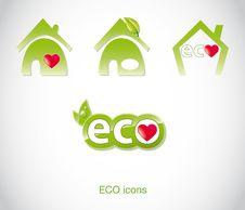 Free Set Of Green Ecology Icons. Stock Photos - 21013833