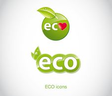 Free Set Of Green Ecology Icons. Stock Photo - 21013840