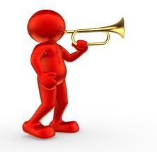Free Trumpet Stock Photo - 21014220