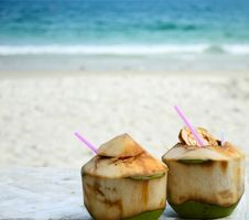Free Tropical Coconut Cocktail Stock Photo - 21014660