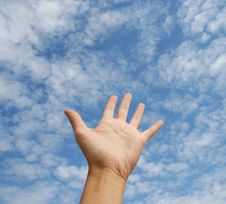 Free Hand In The Sky Royalty Free Stock Photography - 21014697