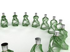 Free Glass Bottles Of Green Glass №1 Royalty Free Stock Image - 21015246
