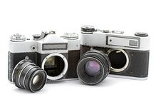 Free Russian Old Cameras Stock Image - 21015311