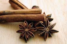 Free Star Anise And Cinnamon Royalty Free Stock Photos - 21015638