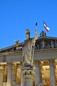 Free Statue Of Athena At Vienna, Austria Stock Images - 21015734