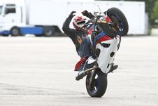Free Trick On Motorcycle Stock Photo - 21015940