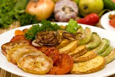 Free Baked Vegetables Royalty Free Stock Images - 21016379