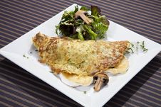 Free Potato Pancake Filled By Camembert And Mushrooms Royalty Free Stock Images - 21016589