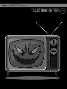 Free Illustration 003 - Evil Television Royalty Free Stock Photos - 21017888