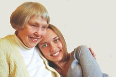 Young Woman With Grandmother Royalty Free Stock Photography