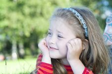 Free Little Girl In The Park Royalty Free Stock Image - 21018946