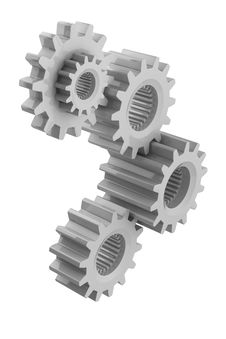 Free Gears On White Royalty Free Stock Image - 21019596