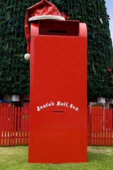 Santas Mail Box Royalty Free Stock Photography