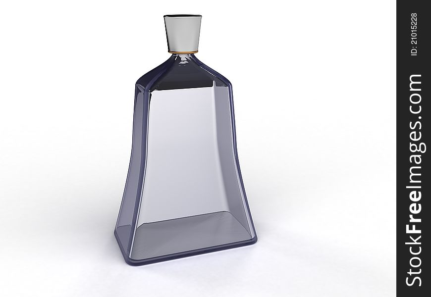 Glass bottle of blue glass  №№1