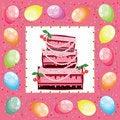 Free Square Birthday Card. Royalty Free Stock Image - 21022666