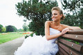 Free Beautiful Bride In White Dress Royalty Free Stock Photos - 21023328