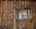 Free Window Of A Boarded Up Log Cabin Stock Photo - 21026370
