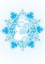 Free Santa Claus On A Snowflake Royalty Free Stock Photography - 21027127