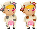 Free Cosplay Cow Vector Royalty Free Stock Photography - 21028777