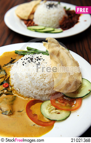 Free Vegetarian Curry Rice Royalty Free Stock Photos - 21021368