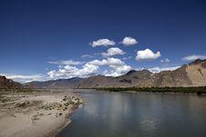 Free Lhasa River Royalty Free Stock Photos - 21020188