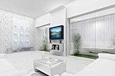 Free Living Room Concept 3D Stock Photography - 21020232