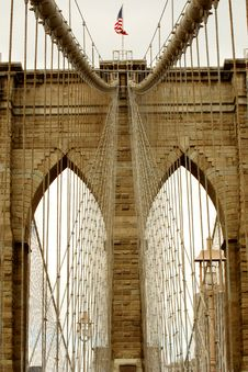 Free Brooklyn Bridge Detail Stock Photo - 21020340