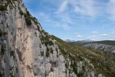 Verdon Mountains Royalty Free Stock Image