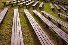 Benches In The Park Royalty Free Stock Photography
