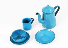 Free Blue Enamel Kitchenware Royalty Free Stock Photos - 21021528