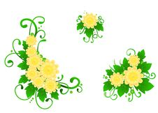 Free Set From Three Flower Compositions Royalty Free Stock Images - 21022139
