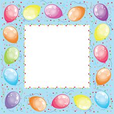 Free Frame With Balloons Royalty Free Stock Images - 21022829