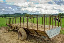 Free Hay Trailer Royalty Free Stock Image - 21022986