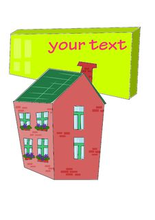 Free House With Table For Your Text - Royalty Free Stock Image - 21023096