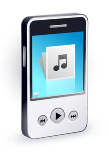 Free Stylish Mp3 Player Royalty Free Stock Images - 21023229