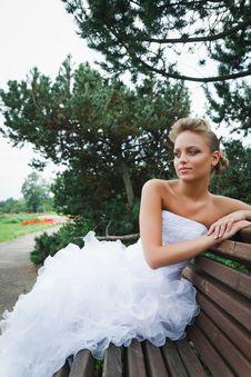 Free Beautiful Bride In White Dress Stock Image - 21023311